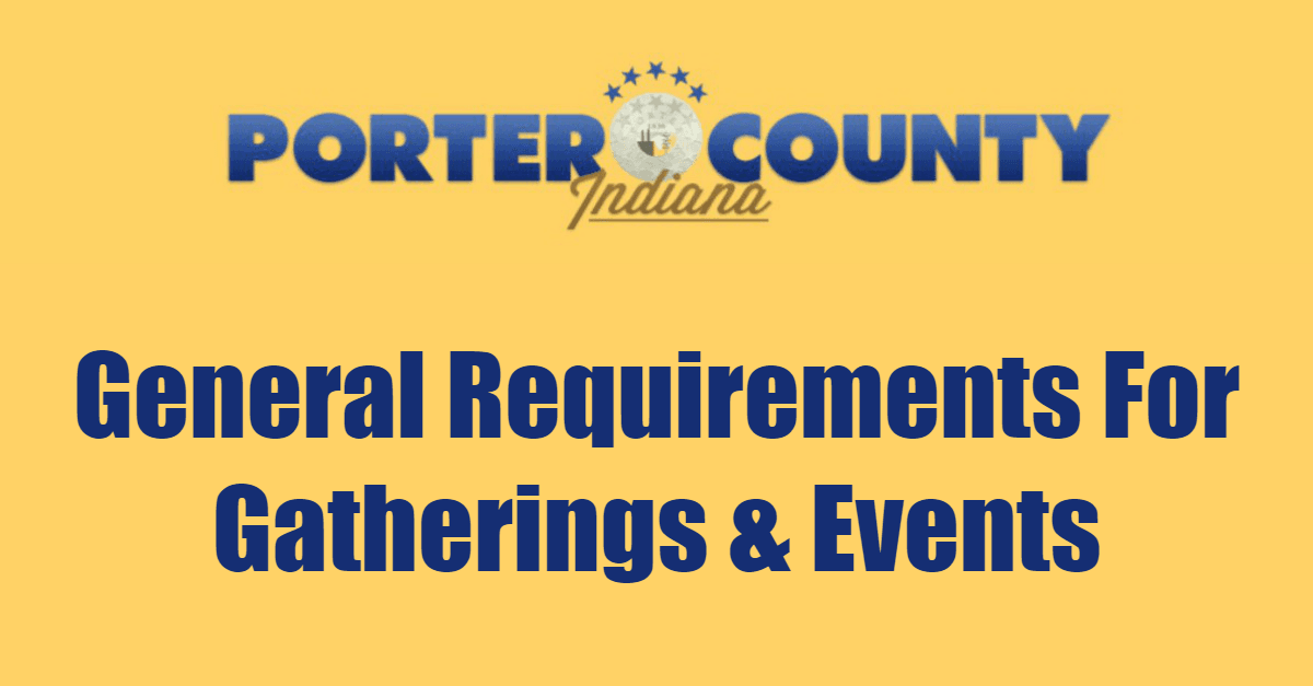 General Requirments For Gatherings and Events Page Banner