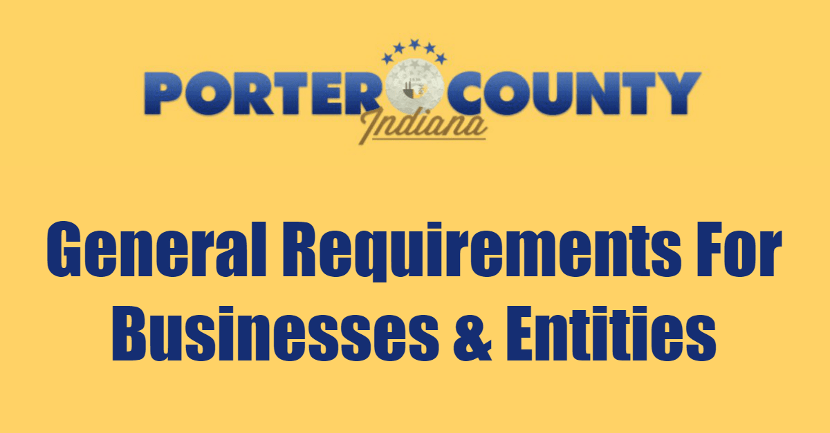 General Requirements For Businesses And Entities Page Banner