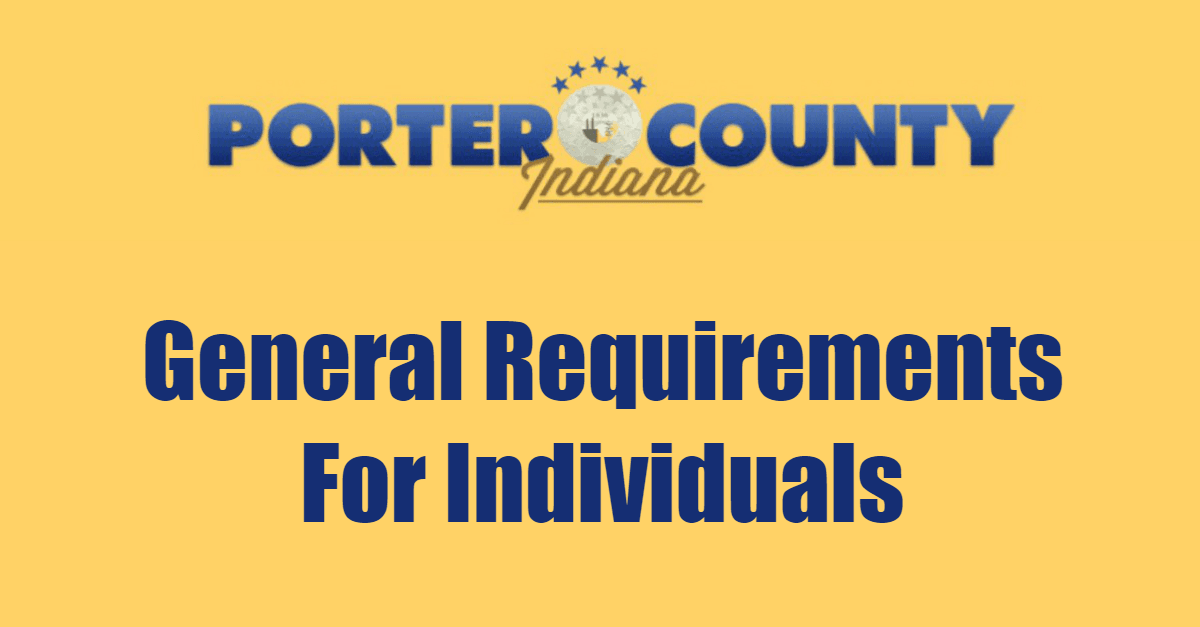 General Requirements For Individuals Page Banner