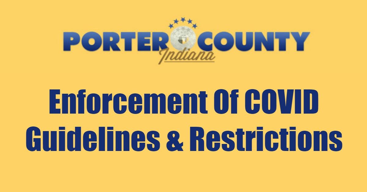 Enforcement Of COVID Guidelines And Restrictions Page Banner
