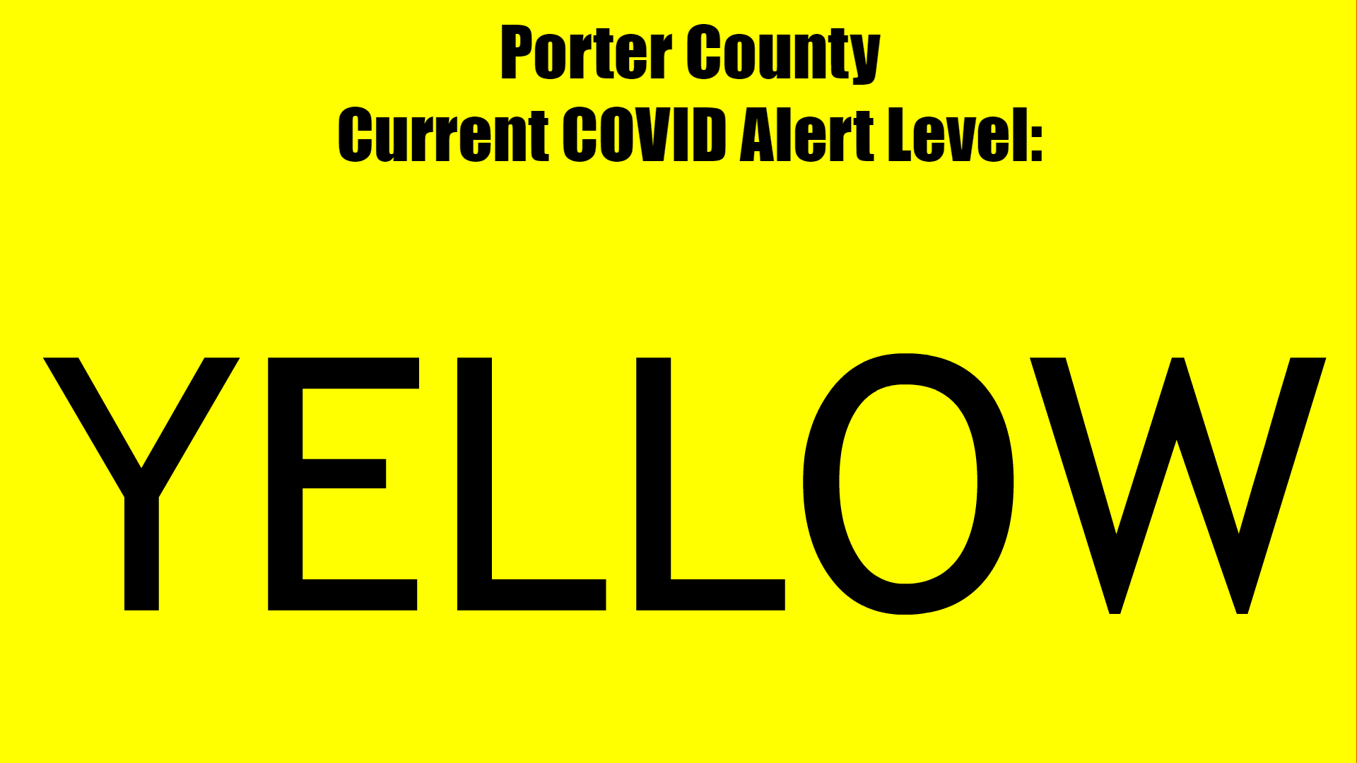 COVID ALERT LEVEL YELLOW page banner