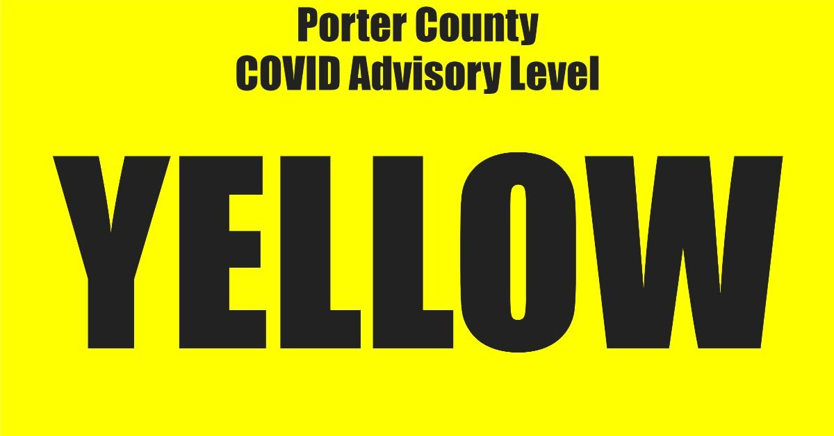 COVID Advisory YELLOW Page Banner