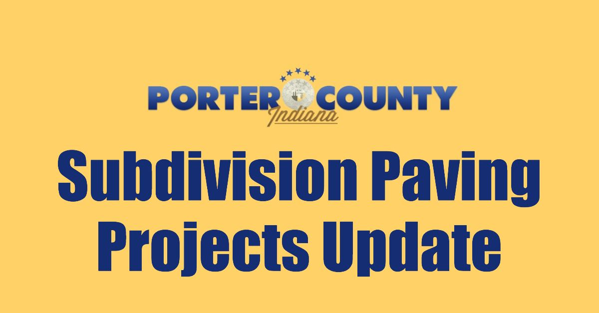Subdivision Paving Projects Update