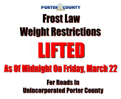 Frost Law Lifted As Of Midnight on March 22