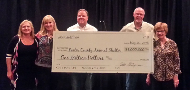 Photo Of One Million Dollar Donation Check