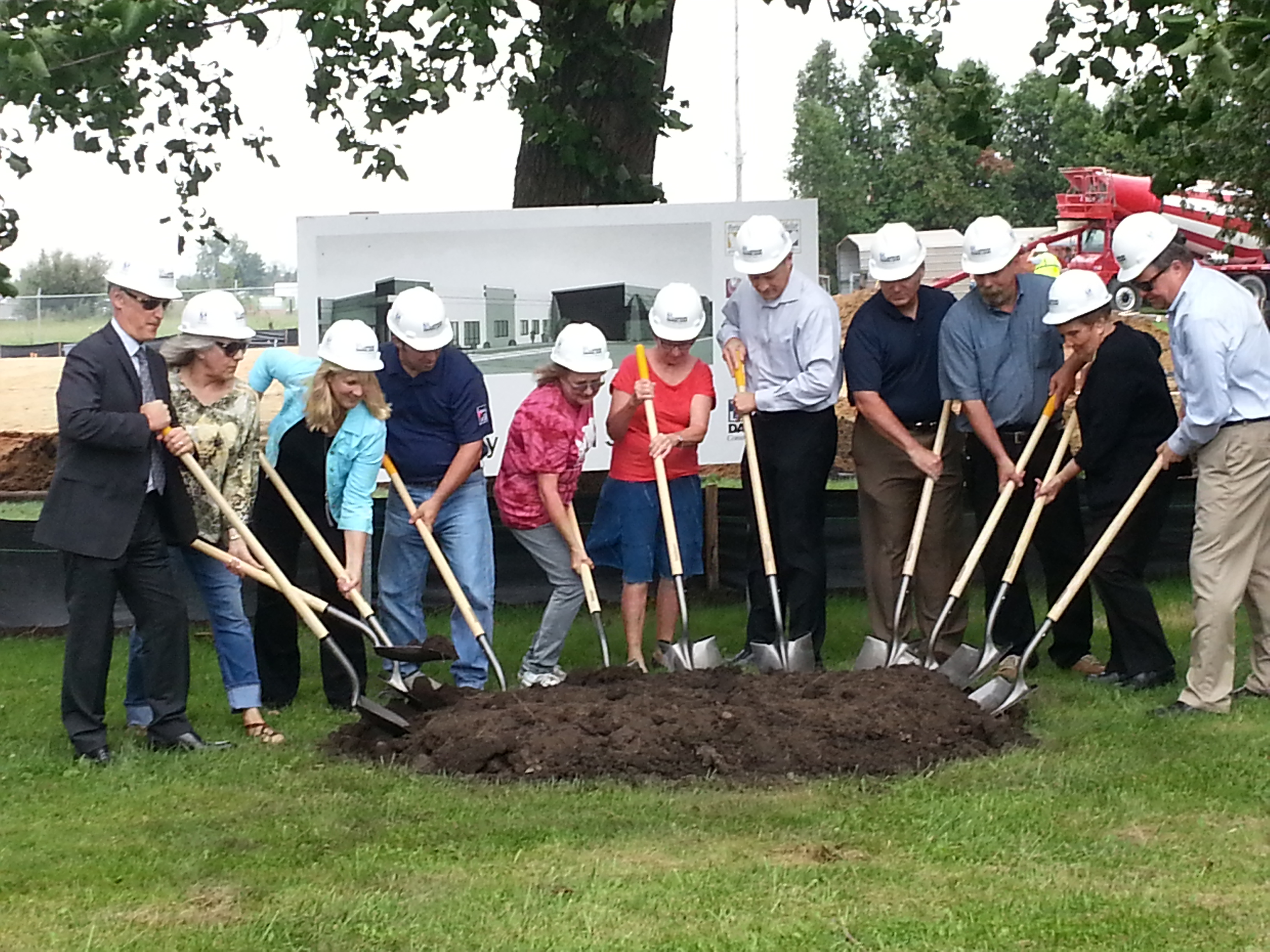Officials With Shovels Break Ground For New Animal Shelter